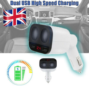 2Way-Dual-USB-Multi-Car-Cigarette-Lighter-Socket-Splitter-Charger-Adapter-12-24V