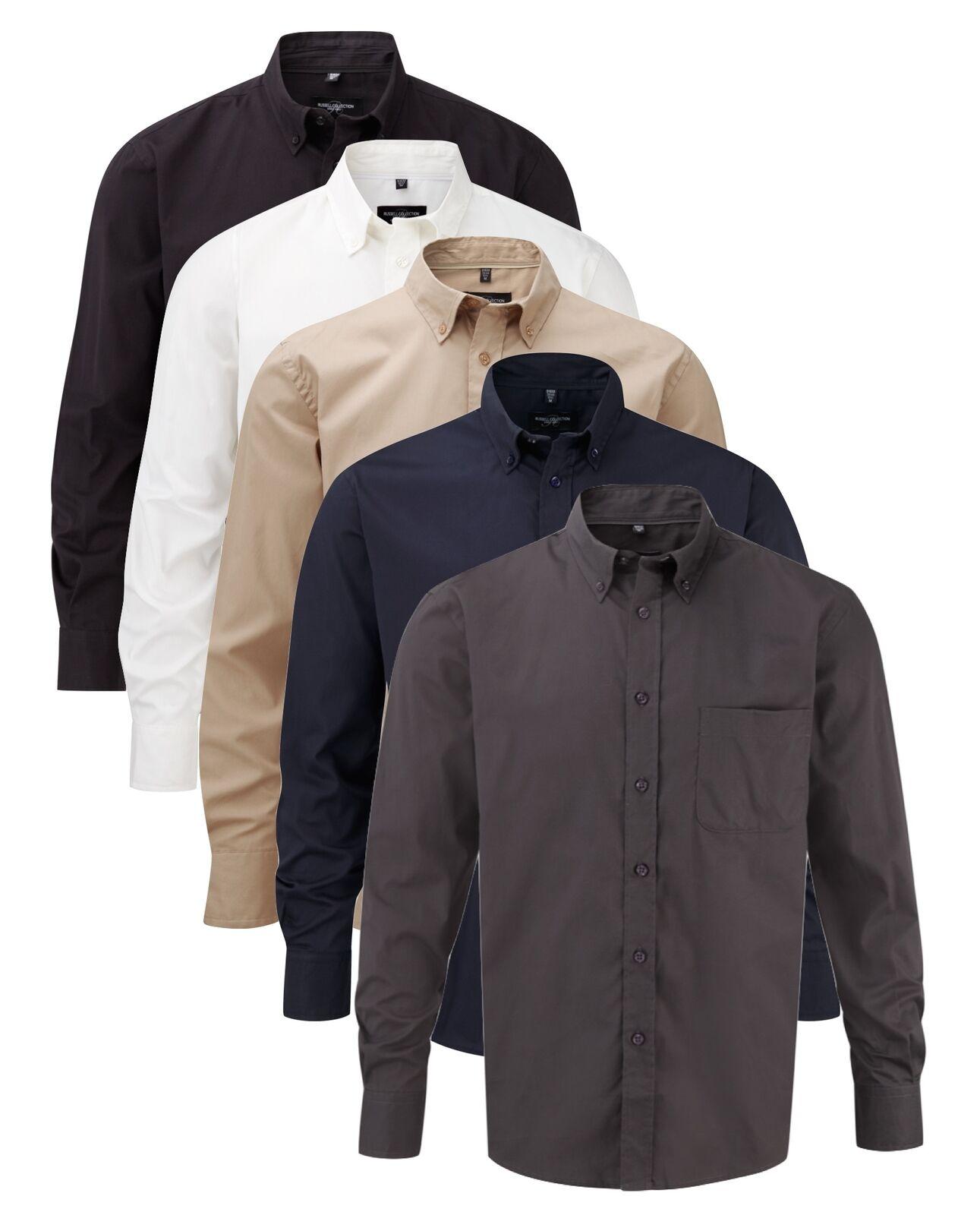 Herren Herren Blau Schwarz Beige Weiß Grau Langärmlig Baumwolltwill Hemd BlauSE | Spielzeugwelt, glücklich und grenzenlos  | Charmantes Design