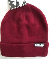 Young & Restless Unisex Burgundy Flip Up Or Down Winter Beanie Hat