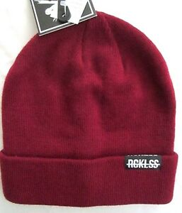 7173926bd1d Young   Restless Unisex Burgundy Flip Up or Down Winter Beanie Hat ...