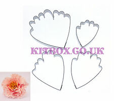 Peony Petal Cutters Large 4 Set for Sugarcraft, Crafts and Cake Decoration