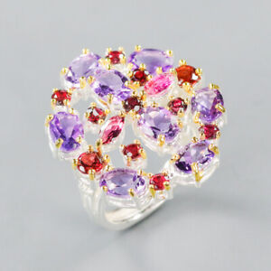 Amethyst Ring 925 Sterling Silver Size 8.5 /RT20-0093