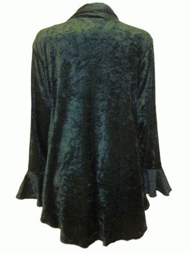 NUOVO EAONPLUS Emerald GOTHIC VELLUTO Orlo Irregolare Giacca-Plus size 58 a 34//36
