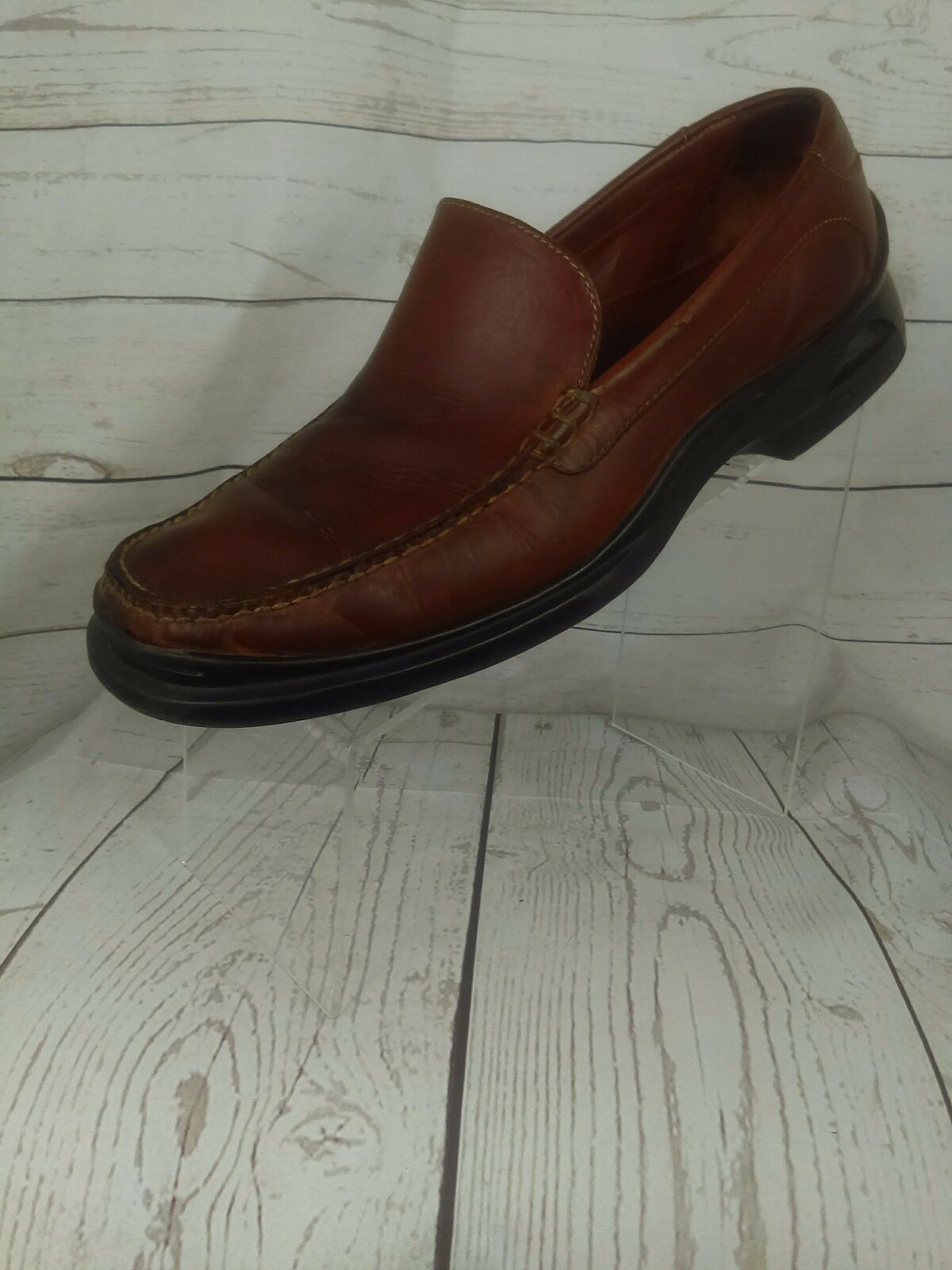 Cole Haan Mens Brown Leather Pinch Loafers Venetian Vamp 10.5 M Great Condition