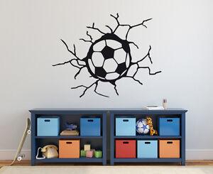 Details Zu Wandaufkleber Fussball In Der Wand Kinderzimmer Junge Sport Fussball Wandtattoo