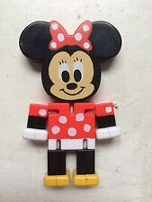 Minnie Mouse Tomy figure flat brick hinged rare Disney Mickey puzzle toy