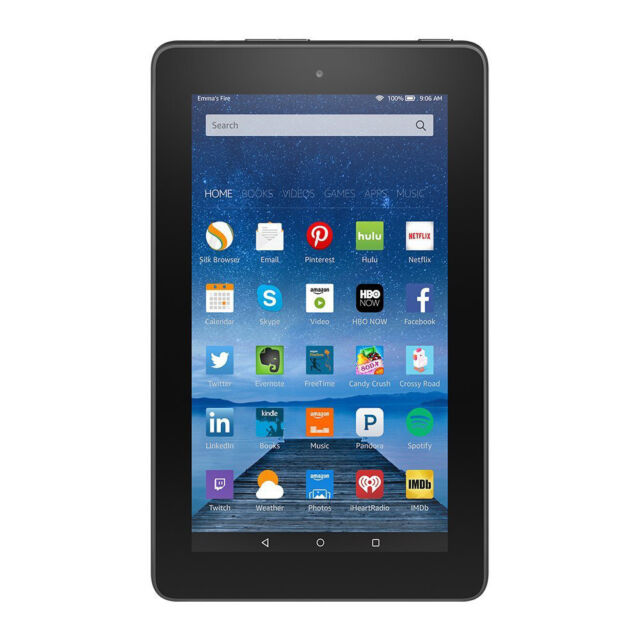 Amazon Kindle Fire 7 8GB, Wi-Fi, 7in - Black (5th generation)