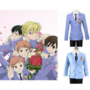 Anime-Ouran-Host-Club-High-School-Uniform-Blue-Jacket-Costume-Cosplay-Halloween