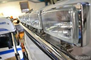 Pour-2006-2013-Volvo-Fe-Acier-Inoxydable-Toit-Barre-Lumineuse-A-Rectangle
