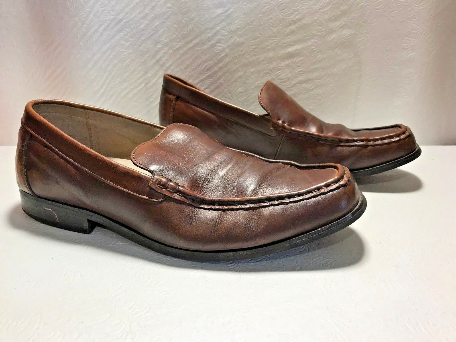 G. H. BASS & CO. Robert Men's Brown Leather Slip on Loafer Size 13M