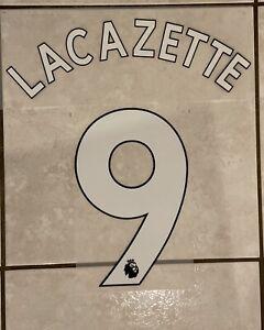 Flocage Nameset LACAZETTE #9 Arsenal 2019-2020 Home Domicile 2020-2021