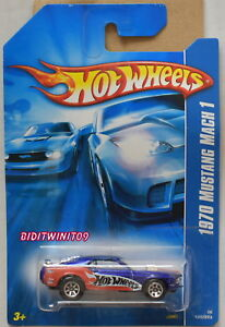 Image Is Loading Hot Wheels 2006 1970 Mustang Mach 1 Blue