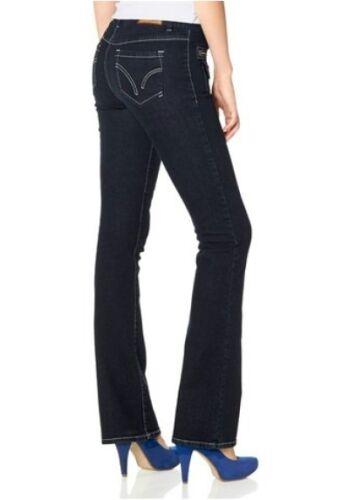 Arizona Bootcut Jeans NEU Kurz-Gr.17-22 Damen Stretch Denim Blau Rinsed Hose L30