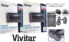 2Pc NP-FM500H Li-Ion Battery With Charger For Sony Alpha SLT-A57 SLT-A58 SLT-A65