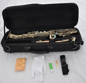 professional soprano saxello antique curved bell saxophone high g key sax ebay. Black Bedroom Furniture Sets. Home Design Ideas