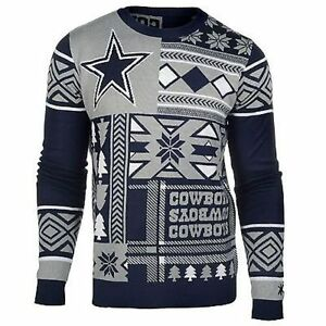 image is loading ugly christmas sweater nfl dallas cowboys patches football