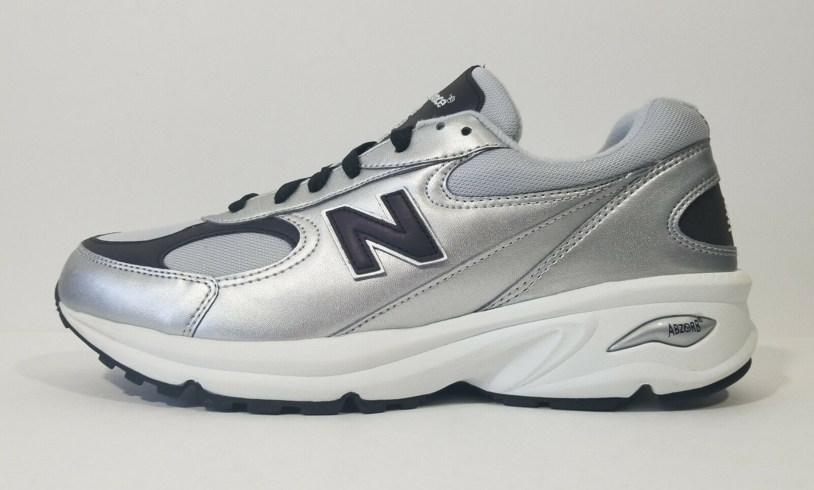 New Balance 498 Abzorb Mens Running Shoes Silver White Gray Size 9.5