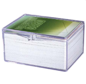 508f58e091f Pack of 3) Ultra Pro 100-Card Hinged Plastic Boxes Holders For ...