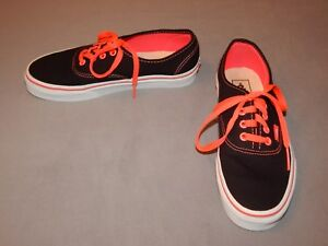 11a031f8c8325c Vans Black Neon Hot Pink Skateboard Low Top Lace Up Sneakers sz M 6 ...