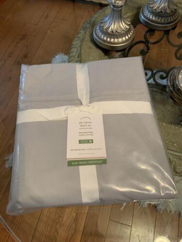 Pottery Barn Classic Twin X Long Sheet Set GRAY GREY 100/% Organic Cotton 400tc