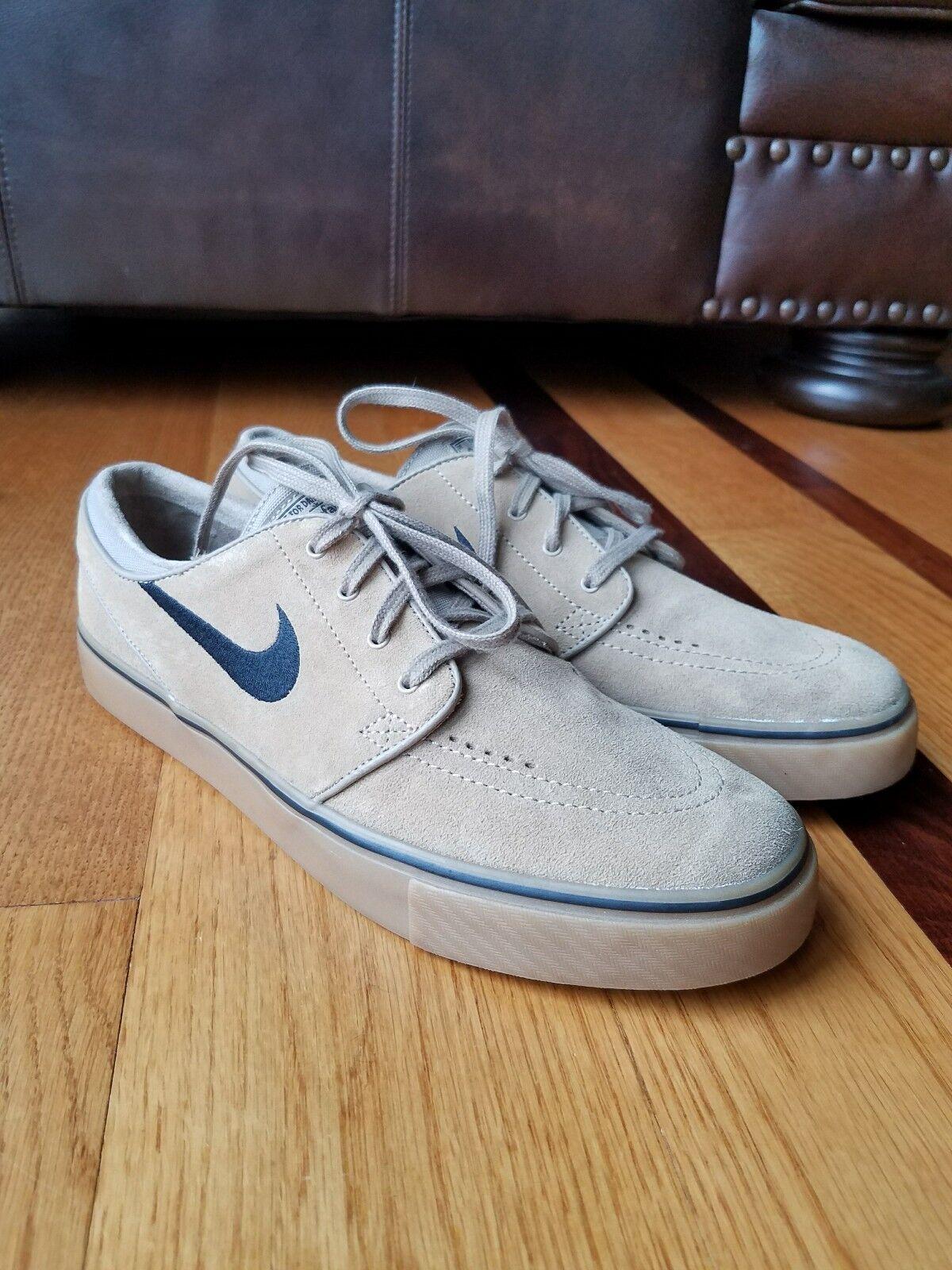 Nike SB Stefan Janoski Tan/Khaki Suede Gum Gumsole 333824-212 Size 10.5