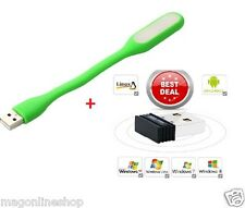 Combo USB LED Light+300 MBPS Mini Wireless,2.4GHz,WiFi USB Adapter,Dongle for PC
