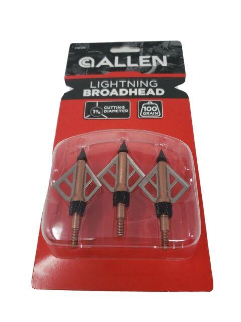 "1/"" 100 grain Allen Platinum Lil/' Nasty Broadheads Pack of 3-14670 New"