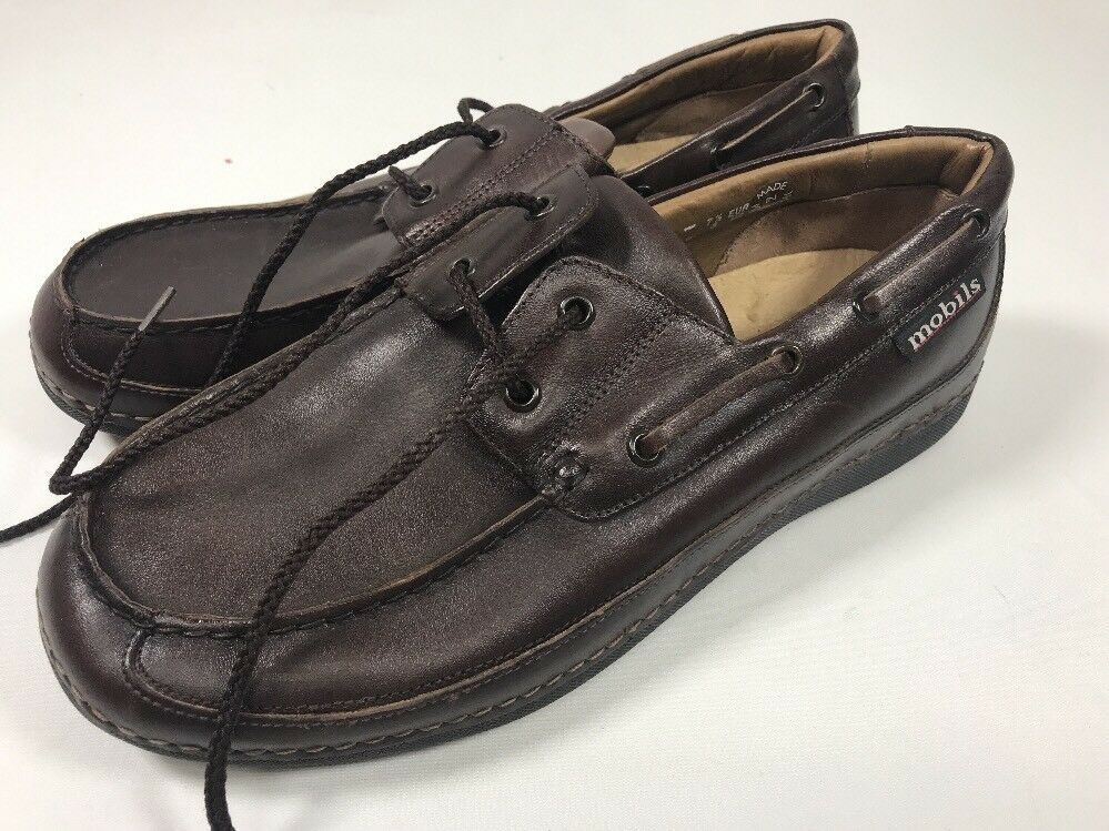 Mephisto Mobils Boat Shoes 2 Eye Genuine Leather  7 1/2-8 717138053 Air Relax