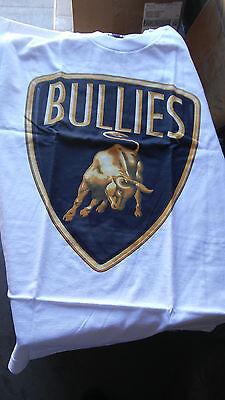 MAFIOSO CLOTHING  WHITE LAMBO BULLIES BULL  GANGSTER GUN T SHIRT