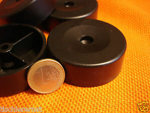 12-Stueck-Polsterfuss-Moebelgleiter-Moebelfuesse-Kunststoff-schwarz-57x20-mm-hoch-NEU