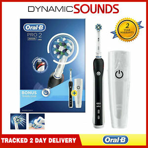 Oral B Pro2 2500 Electric Toothbrush*Black with Travel Case