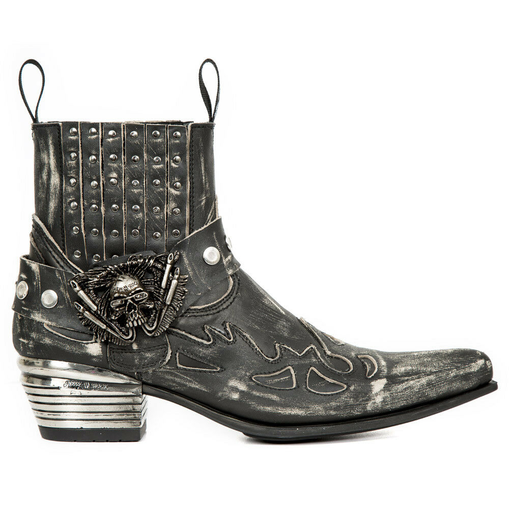 New Rock Nr M.WST045 S1 Negro-botas, Dallas, hombres