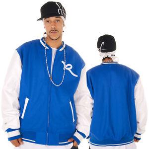 Rocawear-Mens-Pharrel-2-Cobalt-Bomber-Baseball-Jacket-G-Hip-Hop-Money-Is-Time