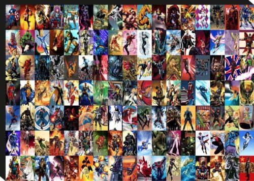 Marvel Comic Super Hero Collage Giant CANVAS ART PRINT A0 A1 A2 A3 A4 Sizes