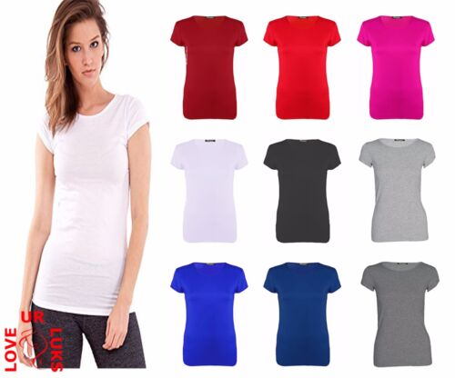 Womens Baggy Fit Round Neck Top Ladies Turn Up Loose Cap Short Sleeve T Shirt