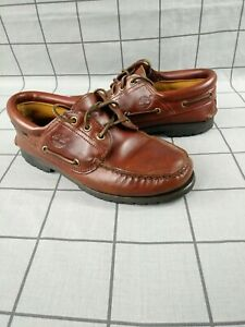 Timberland-Goretex-Vintage-Classique-3-Eye-Cuir-LUG-Bateau-Pont-Chaussures-Taille-UK-7