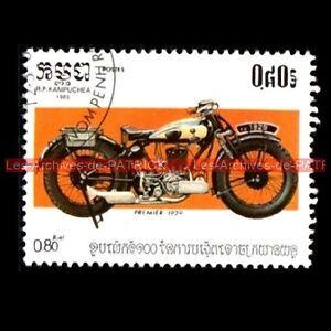 PREMIER-1929-KAMPUCHEA-Cambodge-Moto-Timbre-Poste