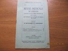 Revue Médicale de Louvain N°16 1933 La lymphogranulomatose inguinale