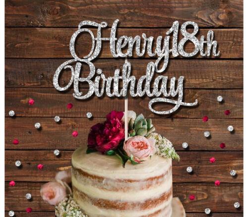 CAKE DECORATION 16th,18th,21st,30th HAPPY 18TH CUSTOM GLITTER CAKE TOPPER