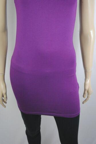 Womens New Look BodyCon Vest Dress Jersey Cotton Purple Size 6 to 18 Ladies B17