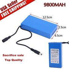 Pro DC12V 9800mAh Rechargeable Portable Li-ion Battery US Plug Battery Pack TOP