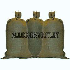 10 US Military Green Sandbags w/ ties 14x26 50 Lb Acrylic LONG LIFE Sand Bag NEW