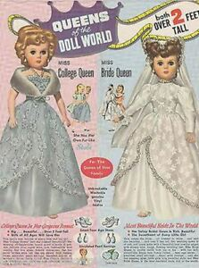 Bride College Queens of the World Vintage Royalty Dolls Advertising Print