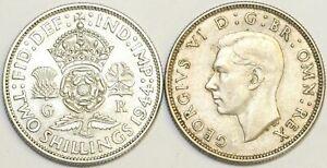 1937-To-1946-George-VI-silver-Florin-Votre-Choix-de-Date-Annee