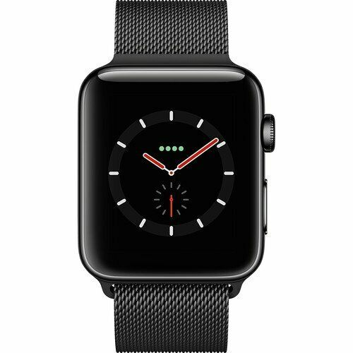 Apple Watch Series 3 42mm Stainless Steel Case White Sport Band Smartwatch Mqk92ll A For Sale Online Ebay