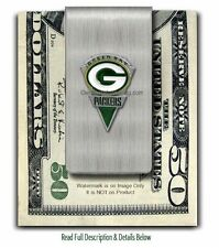 GREEN BAY PACKERS STAINLESS STEEL MONEY CLIP NFL SPORTS GIFT SALE FREE SHIP #A