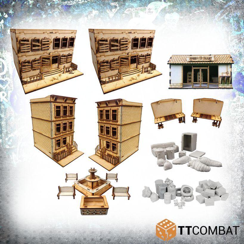 Ttcombat City Streets Bundle 28mm Terrenos Terreno Casa Edificio City Paisaje