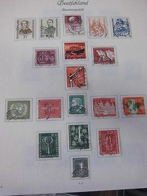 Sammlung, Bund, Brd, Gestempelt 1955-1959 Komplett (1062) Kataloge Werden Auf Anfrage Verschickt