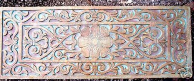 """Victorian plastic mold plaster cement mould multi use 21/"""" x 8/"""" x 1.20/"""" thick"""