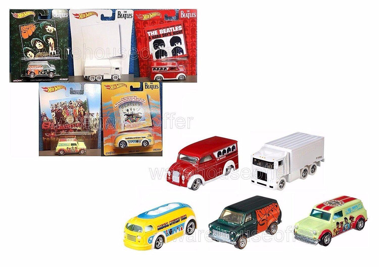 Hot Wheels BEATLES 1 64 Scale Pop Culture Set of 5 Die Cast Car Vehicles